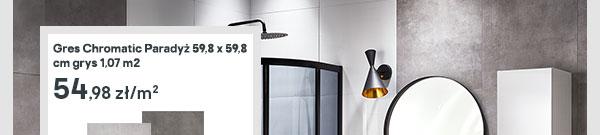 Gres Chromatic Paradyz 59,8 x 59,8 cm grys 1,07 m2