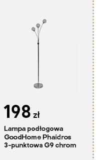 Lampa podlogowa GoodHome Phaidros 3-punktowa G9 chrom