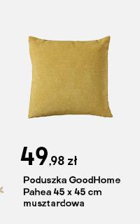 Poduszka GoodHome Pahea 45 x 45 cm musztardowa