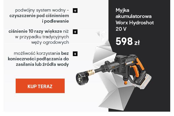 Myjka akumulatorowa Worx Hydroshot 20 V