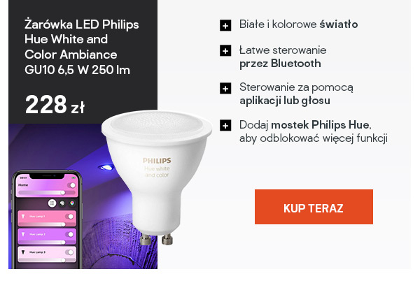 Zar?wka LED Philips Hue White and Color Ambiance GU10 6,5 W 250 lm