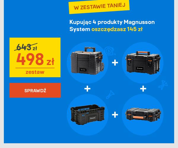 Kupujac 4 produkty Magnusson System oszczedzasz 145 zl