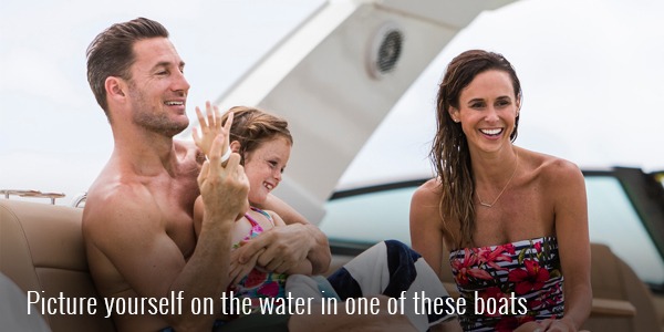 Picture yourself on the water in one of these boats