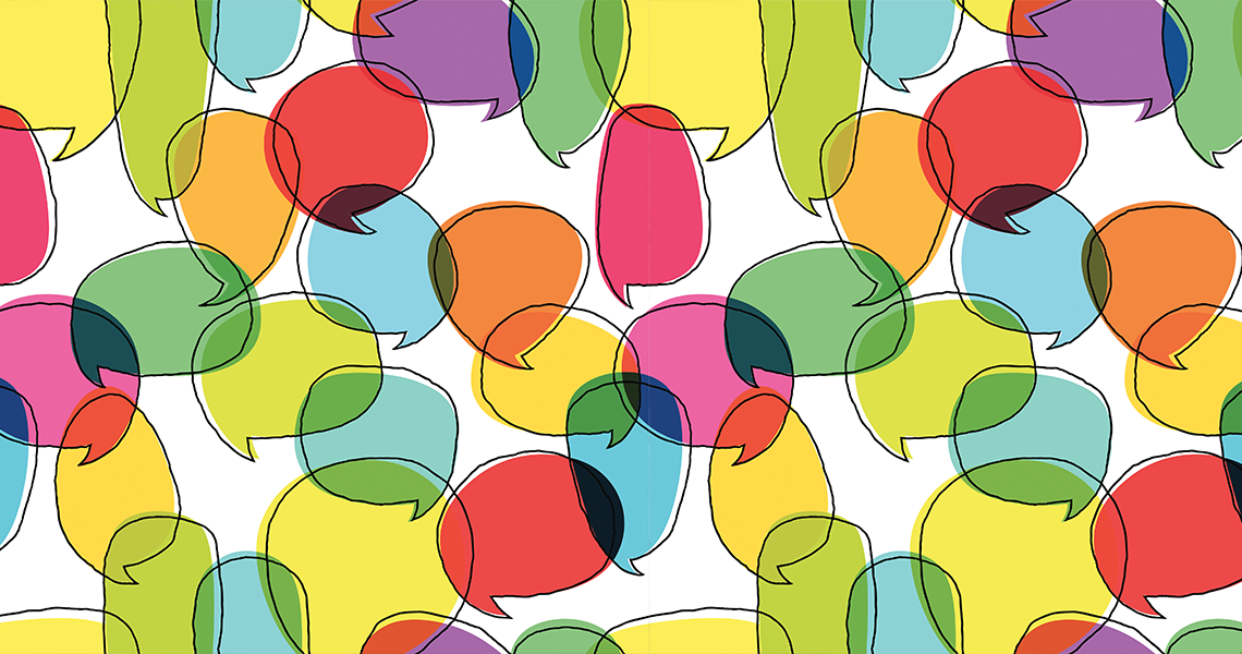 illustration of speech bubbles