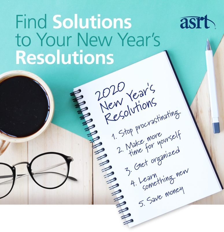 Join ASRT and find the solution to your New Year's resolutions.