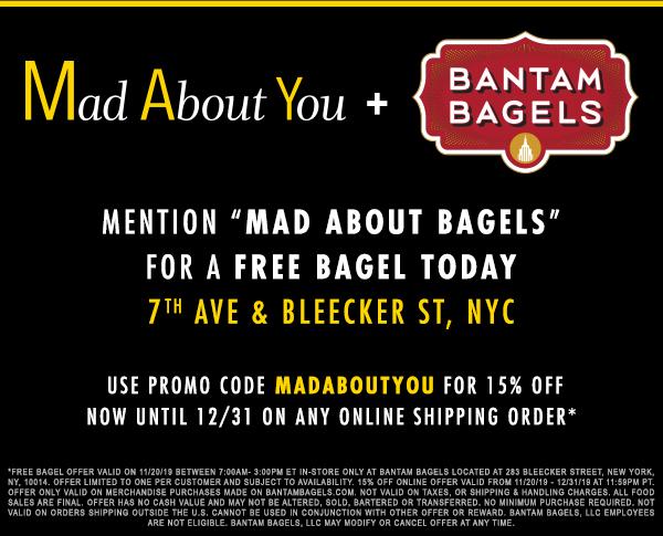 Mad About You Bantam Bagels Offer