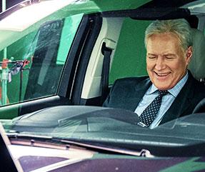 Alex on Drivetime Commercial Set