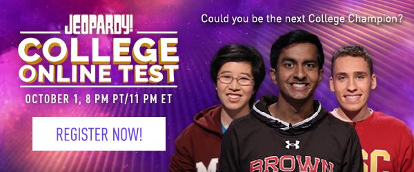 College Online Test October 1, 8PM PT / 11PM ET | REGISTER NOW