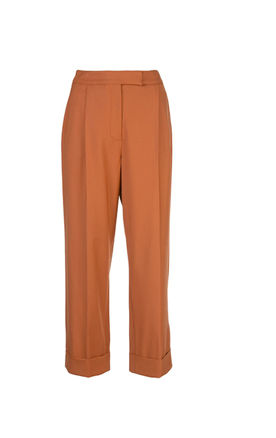 Stretch-Wool Gabardine Wide-Leg Pants