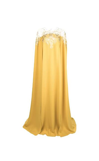 Jeweled Stretch-Silk Georgette Caftan
