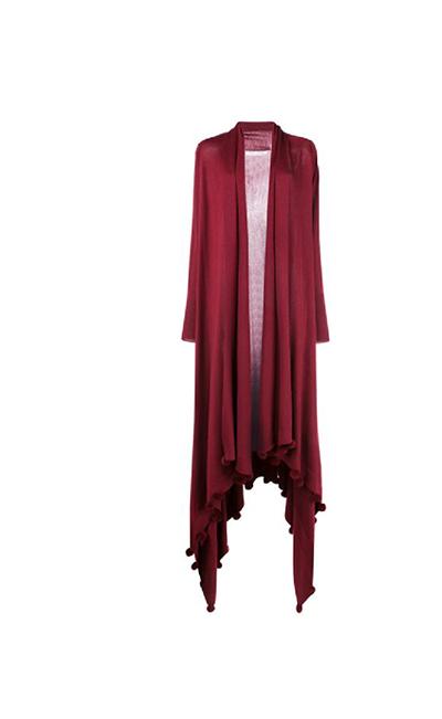Pompom Wool and Silk Cardigan