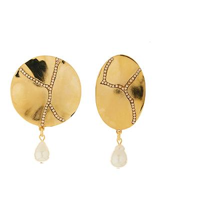 Pave Kintsugi Earrings