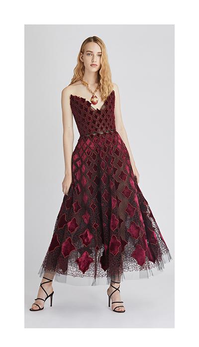 Arabesque Velvet and Tulle Cocktail Dress