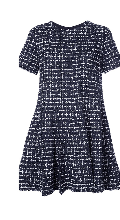Check Tweed Dress