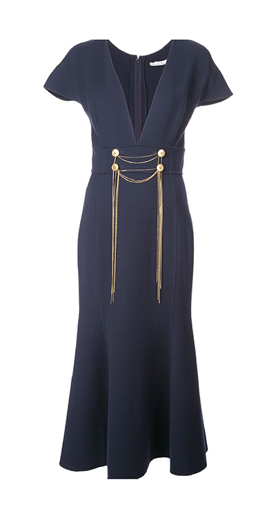 Chain-Embroidered Dress