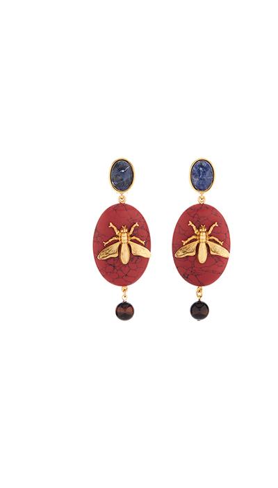 Fly Stone Earrings