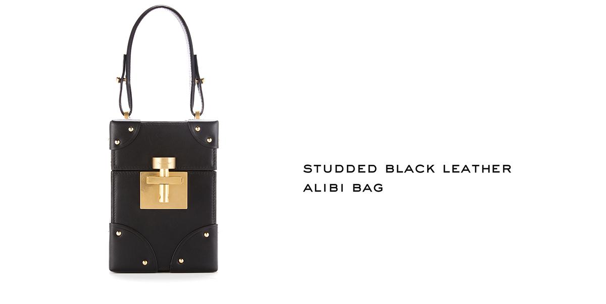 Studded Black Leather Alibi Bag