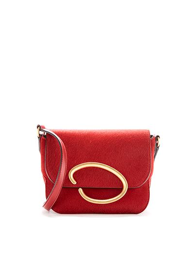 Cranberry Calf Hair Oath Bag