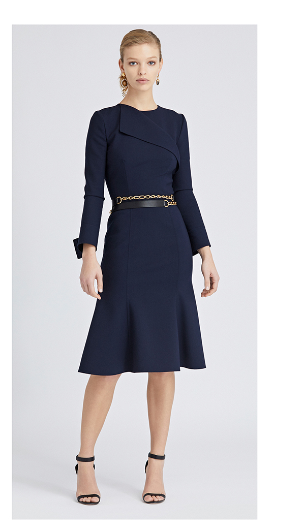 Double-Face Stretch-Wool Dress