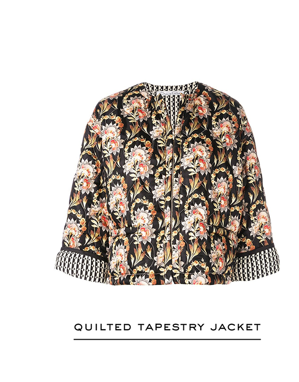 Quilted Tapestry Floral King Twill Jacket