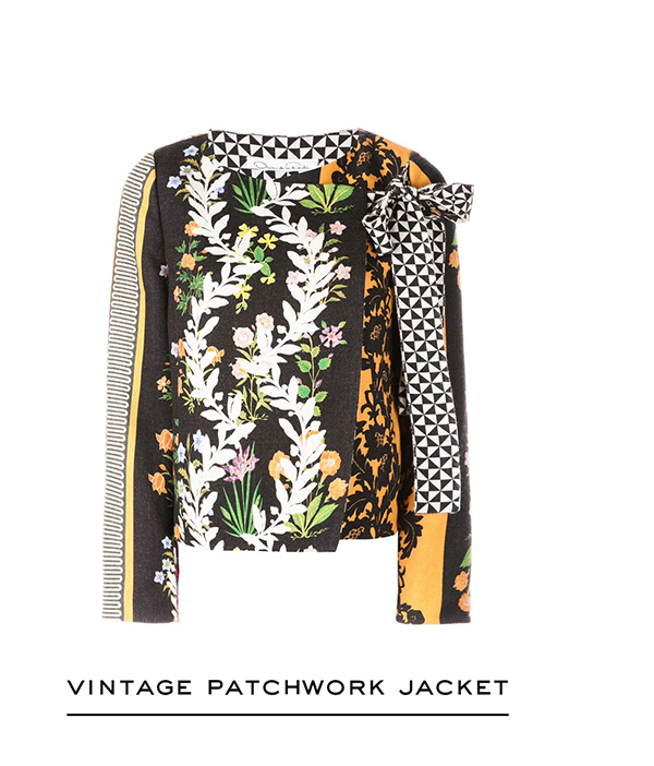 Vintage Patchwork Double-Face Wool Jacket