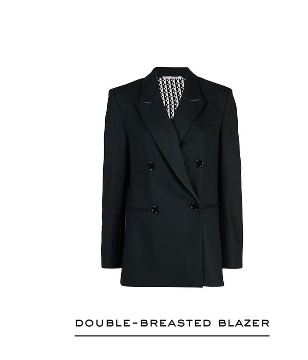 Double-Breasted Stretch-Wool Gabardine Blazer