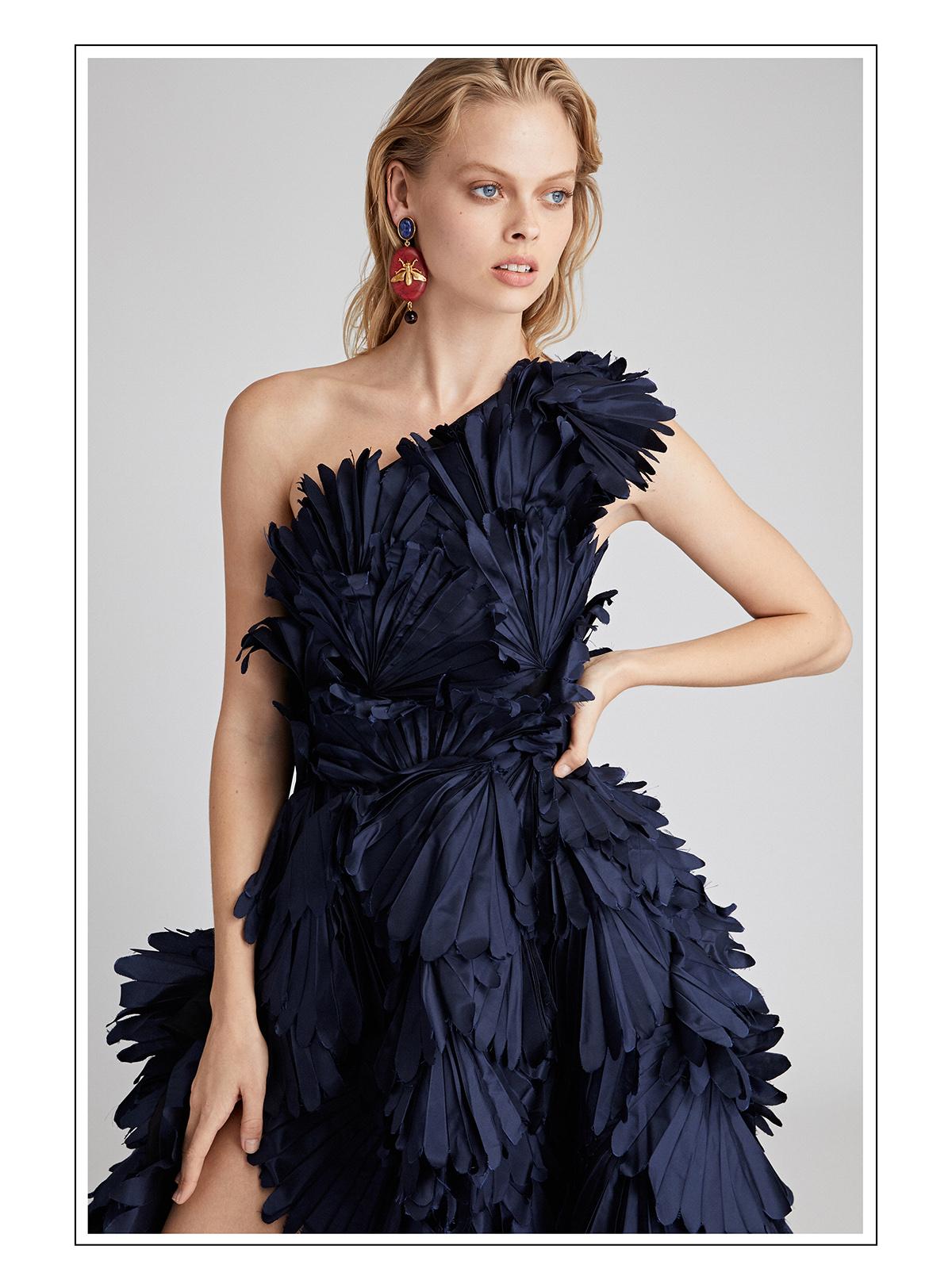 One-Shoulder Silk-Taffeta Gown