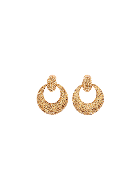 Pavé Knock Hoop Earrings