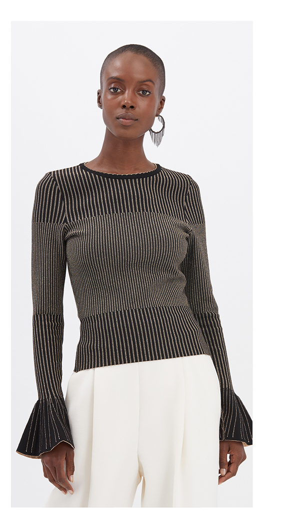Metallic Pullover