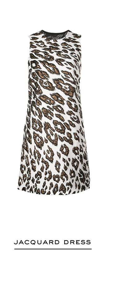 Leopard Wool Jacquard Dress