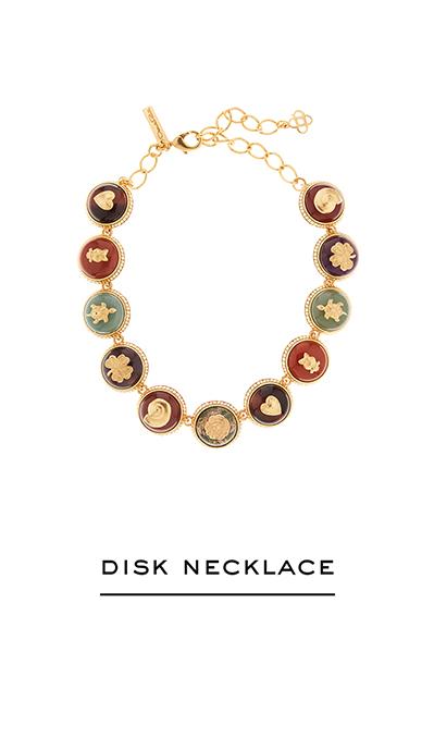 Semiprecious Disk Necklace
