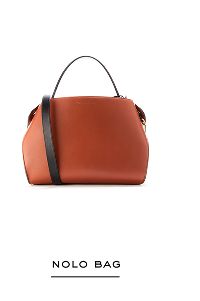 Two-Tone Leather Nolo Bag