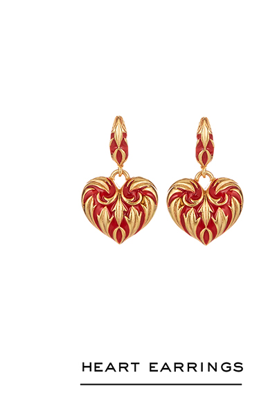 Painted Heart Earrings