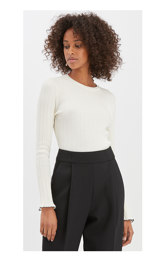 Silk-Blend Pullover