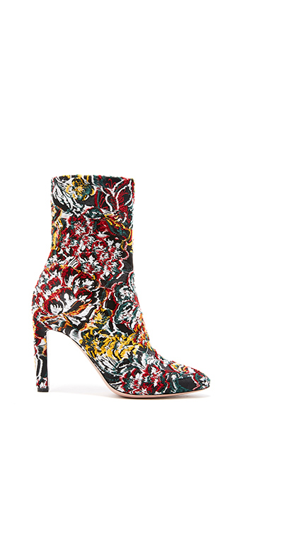 Floral Fil Coupé Rugby Ankle Boot