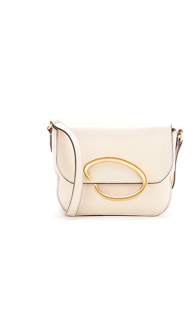 Ivory Leather Oath Bag