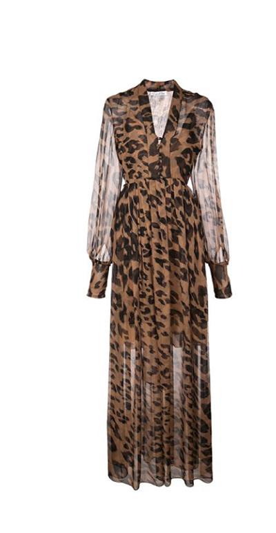 Leopard Chiffon Dress