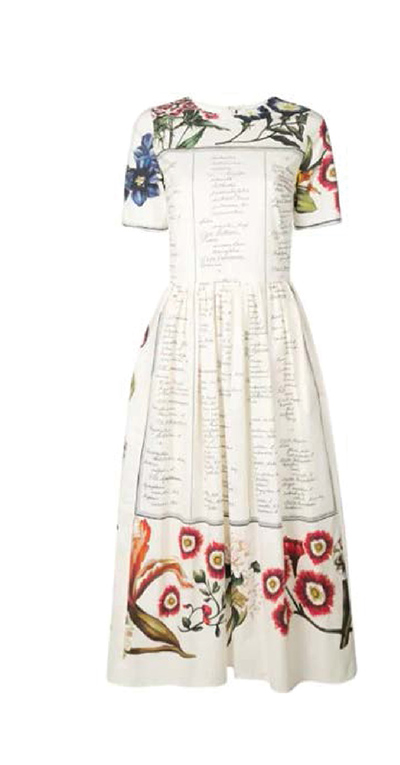 FLORAL CALLIGRAPHY DRESS