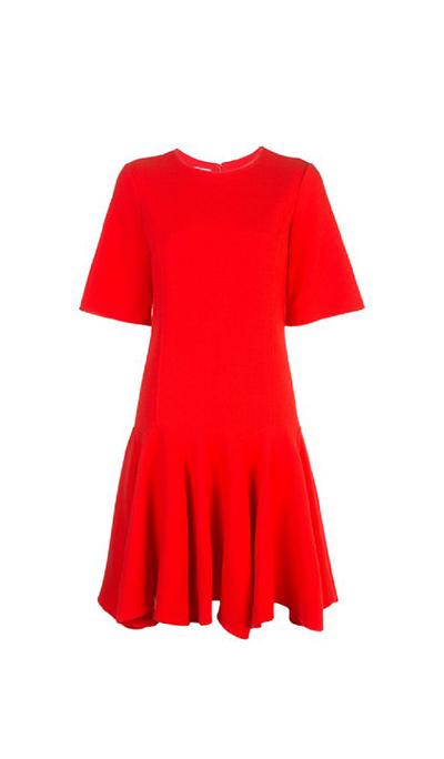 Stretch-Wool Crepe Trumpet Dress
