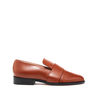 Cognac Leather George Loafers