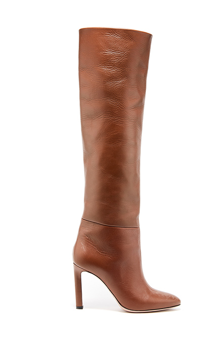 Cognac Leather Margot Knee-High Boot