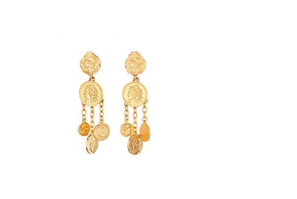 Chandelier Coin Earrings
