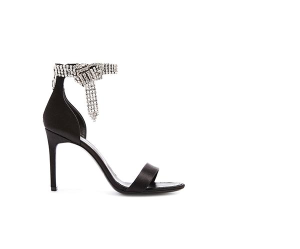 Crystal and Satin Sandal