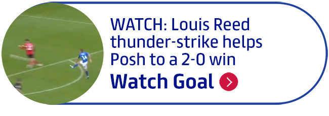 WATCH: Louis Reed thunder-strike helps Posh to a 2-0 win