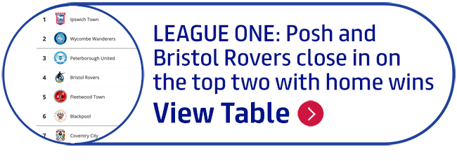 League One: Posh and Bristol Rovers close in on the top two with home wins