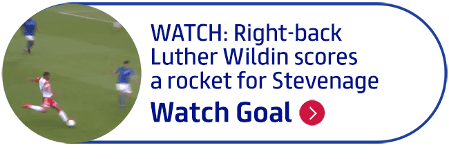 WATCH: Right-back Luther Wildin scores a rocket for Stevenage