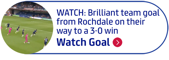 WATCH: Brilliant team goal from Rochdale on their way to a 3-0 win