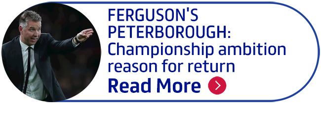 FERGUSON'S PETERBOROUGH: Championship ambition reason for return