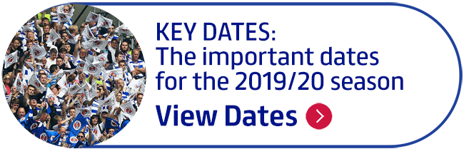 KEY DATES: The important dates for the 2019/20 season