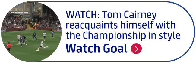 WATCH: Tom Cairney reacquaints himself with the Championship in style